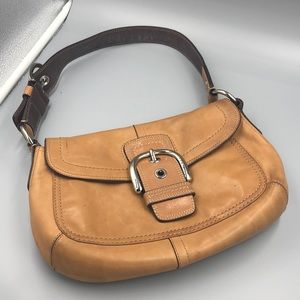 Vintage Leather Coach Bag